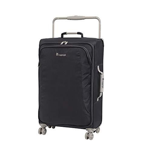 it luggage World'S Lightest New York 8 Wheel Super Lightweight Suitcase Medium Maleta, 70 cm, 56 Liters, Gris (Magnet)