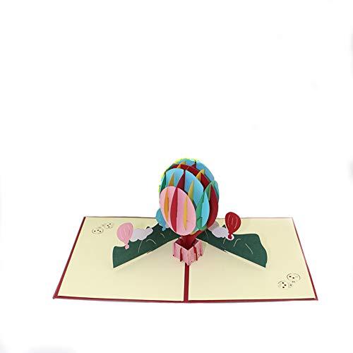 EVE熱気球3Dポップアップグリーティングカードハッピーバースデーデイリーギフトかわいいバースデーグリーティングカード3D greeting cardバースデーカード