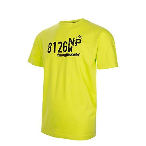 Trangoworld NP-Height 8126 T Shirt, Homme L Vert Citron Vert/Noir