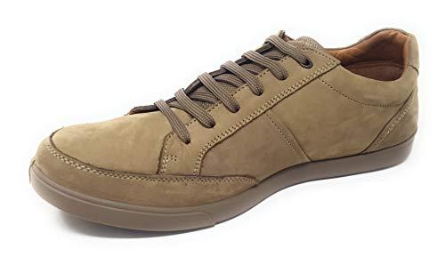 Woodland Men's Khaki Leather Sneakers-10 UK/India (44 EU) (GC 2577117WS)