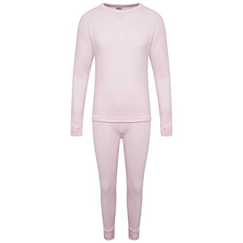 KidCollection Thermo-Unterwäsche-Set für Kinder, langärmeliges Oberteil und passende Hose, für den Winter, warm, Unisex für Jungen und Mädchen, Alter 2 bis 13 Jahre Gr. 6-8 Jahre, multi