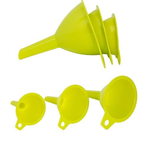 Oryx 5071075 Imbuti in plastica da cucina Ø 65/75 / 95 mm. Set di 3 imbuti