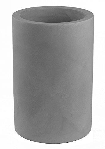 Vondom 40440 - Cilindro alto con diámetro de 40 x 60 cm, simple, color acero