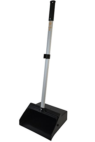 "Janico 1085 Commercial Lobby Dustpan Upright, Aluminum Handle, 37"" Length, Black"