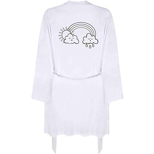 Azeeda Klein 'Regenbogen-Wolken' Erwachsene Dressing Robe / Kleid (RO00031267)
