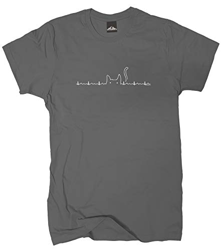 Wolkenbruch® T-Shirt Katze Skyline, grapitgrau, Gr.XXL