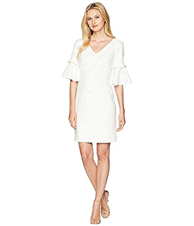 [LAUREN Ralph Lauren(ローレンラルフローレン)] レディースウェア?ジャケット等 Jordana Short Sleeve Day Dress Cream US 12 (XXL) [並行輸入品]