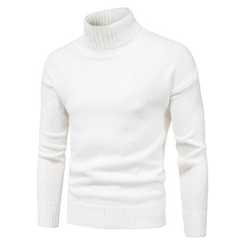 WLZQ Herbst Und Winter Herrenpullover Tops Herrenpullover Herren Langarmpullover Bottom Shirts Herren Strick-t-Shirts