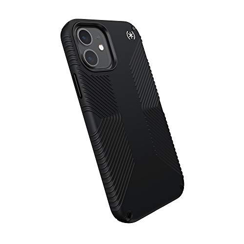 Speck Products Presidio2 Grip Schutzhülle für iPhone 12, iPhone 12 Pro, Schwarz/Weiß