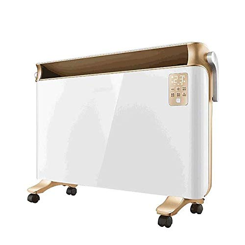 ASDFGH Schlafzimmer Heizung 2200W Heizung im Winter Steht Heater, IPX2 Wasserdicht, Fernbedienung, mit Rollen, for Home Office