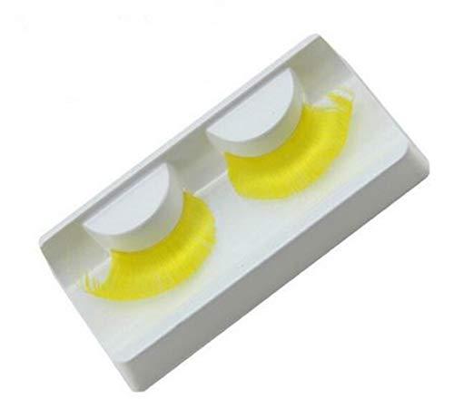 faux cils jaune clair