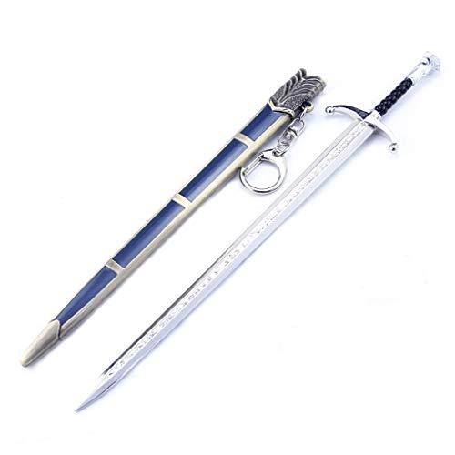 LTKJ Jon Snow Longclaw Metallwaffe Schwert Säbel Modell Action Figure Spielzeug Geschenk