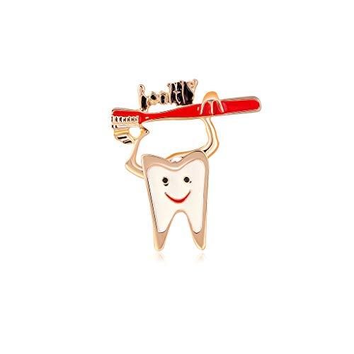 DUOYO Pasta de dientes Cepillo de dientes Broches Alfileres Joyera Accesorio de disfraz para mujeres y nias