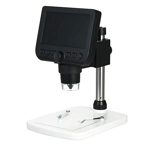 YonCog Lab Handheld Digital Microscopes Digital Inspection Microscope 4.3' LCD 800X Magnification for Beginners (Color : Black, Size : One Size)