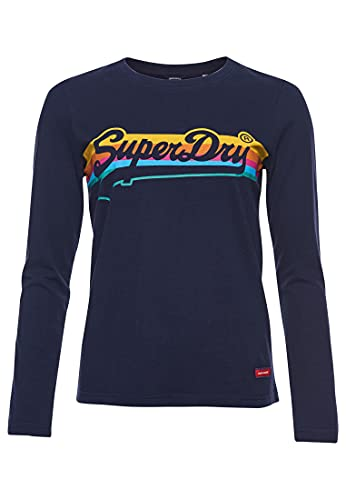 Superdry Womens W6010949A T-Shirt, Nautical Navy, M