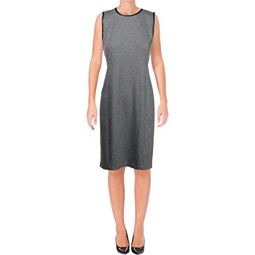 Ralph Lauren Womens Herringbone Sheath Dress, Grey, Large (Apparel)