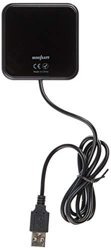 miniBatt XPower – Cargador inalámbrico Ultra Fino Fast Charge – Negro