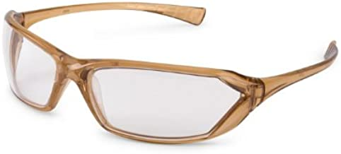 Gateway Safety 23CL80 Metro Ultra-Stylish Eye Safety Glasses, Clear Lens, Caramel Frame