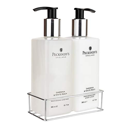 Pecksniff's Gardenia & White Peach Hand Wash and Body Lotion Set, 300ml 10.1 fl. oz. each…