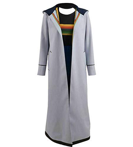 MJPARTY Adult 13e Dokter Feestkleding Kostuum Dames TV Film Feestelijke Jurk Volledige Outfit, Medium(14-16), Lichtgrijs