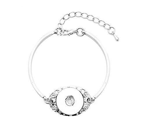 RQWY Armband snap Armband & armreifen kristall Taste Armband Metall snap schmuck DIY Armband für Frauen männer