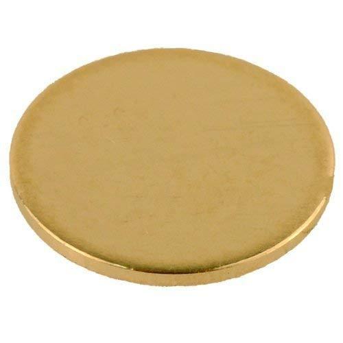 GemOro 14K Calibration Disc (6.4mm) for AGT1, AGT2, AGT3 & AGT-Blue Gold & Platinum Testers, Gold