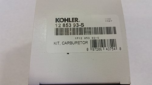 Kohler 12-853-93-S Lawn & Garden Equipment Engine Carburetor Rebuild Kit Genuine Original Equipment Manufacturer (OEM) Part