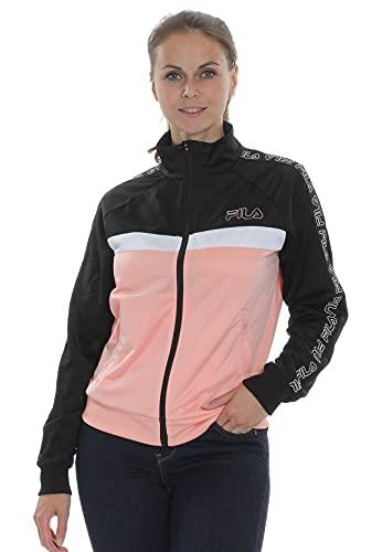 FILA Sweatjacke Damen Jacoba Taped Track Jacket 683284 Mehrfarbig B057 Coral Cloud-Black-Bright White, Größe:M