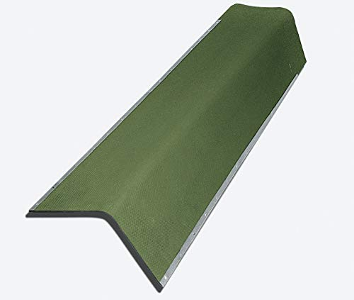 Giebelwinkel für Bitumenwellplatten - grün mit Metallkante 850 mm