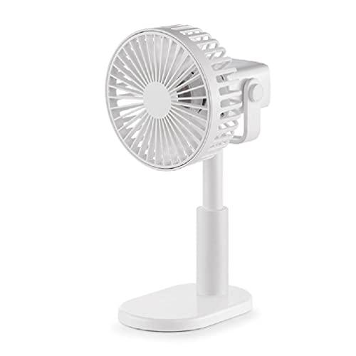 Mini ventilador de mesa operación silenciosa portátil mini USB recargable ventilador de escritorio circulador de aire ajustable cabeza 360 ° giratorio