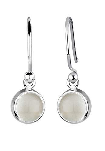 Elli Ohrringe Damen mit Mondstein im Astro Trend in 925 Sterling Silber