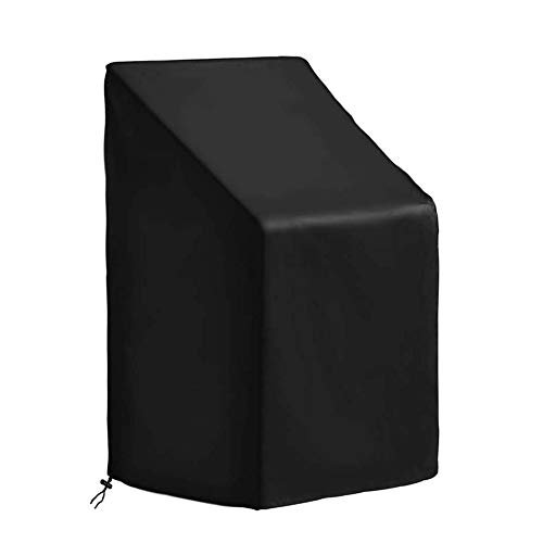 Garden Stacking Chair Cover Patio Reclining Chair Cover Outdoor 210D Oxford Fabric Furniture Cover Waterproof, Anti-UV, Heavy Duty Rip Proof,Patio Furniture Cover(65 x 65 x 120cm)