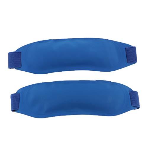 harayaa 2X Paquete Reutilizable Envoltura de PVC Bolsa de Hielo Frío Grano de Gel para El Dolor de Articulaciones de Enfriamiento de Fiebre