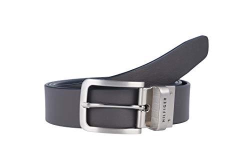 Tommy Hilfiger AM0AM03310-901 Loop Belt Rev. 3.5 Cintura Uomo Pelle Reversibile BLU-BROWN (95, BLU-BLACK)