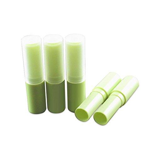 FSSTUD 4 ml Runden Kunststoff Leeren Lippenstift Rohre Behälter DIY Lippenbalsam Container mit Kappen 10 STK