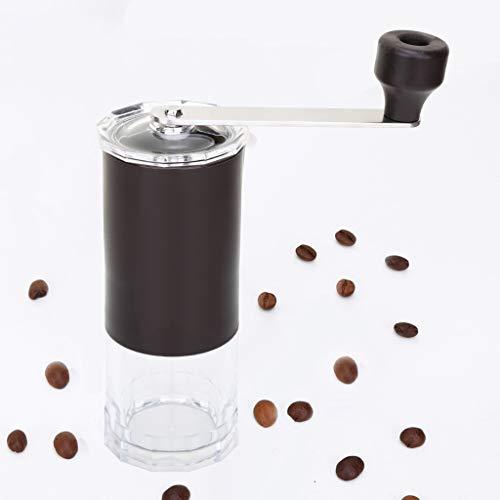 Yzlife koffiemolen handmatige koffiemolen wasbaar keramische kern roestvrij staal familie outdoor reizen mini koffiemolen slijper