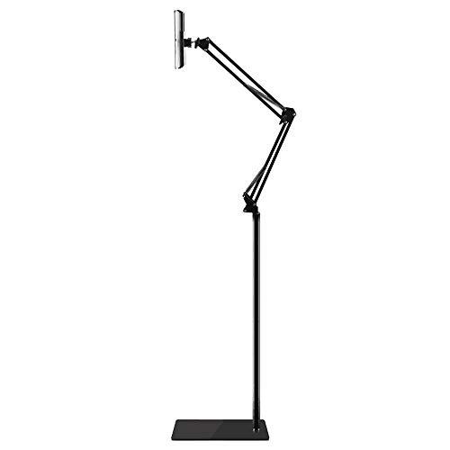 (Bidear)タブレットスタンド スマホ ホルダー 360度回転可能 38cm-175cm高さ調節可能 主体調節でき折り...