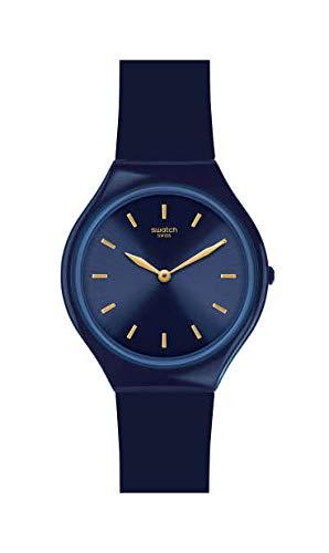 Swatch Damen Analog Schweizer Quarz Uhr mit Silicone Armband SVON104