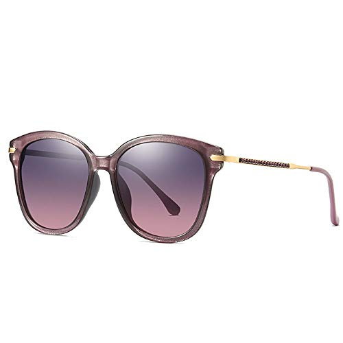 Faus Koco Europa und Amerika Box Polarisierte Sonnenbrille Damen Farbverlauf UV400 Schutz eingelegte Kunststoff-Diamanten (Farbe: Violett)