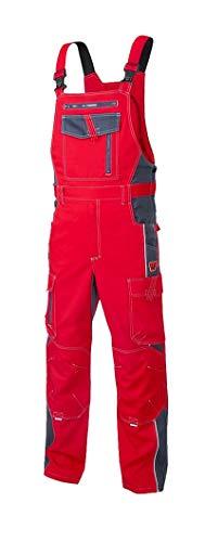 Vision ARDON Arbeitshose Herren Latzhose Professionelle, Schutz für Monteure, Gärtner, Mechaniker, mit Reißverschlusstaschen, leichte Schutzkleidung; Rot (50)