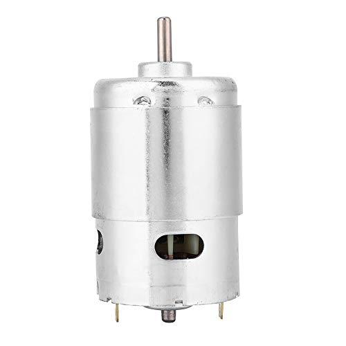 Motore in miniatura, motore elettrico con ingranaggio di riduzione della velocità micro 48 mm di diametro 3000 RPM DC12 V -24 V per seghe a nastro smerigliatrici elettriche, macchine da incisione,