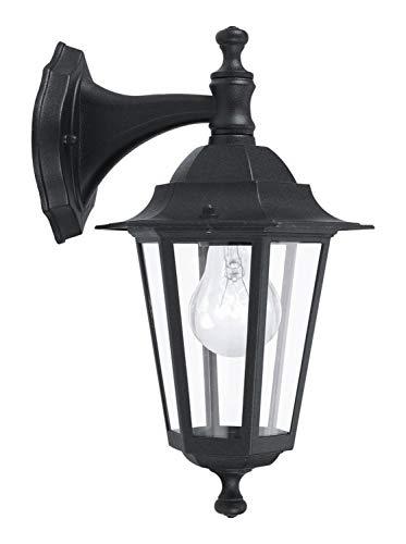 Eglo 22467 Applique, Aluminium, E27, Noir, 21 cm x 35 cm