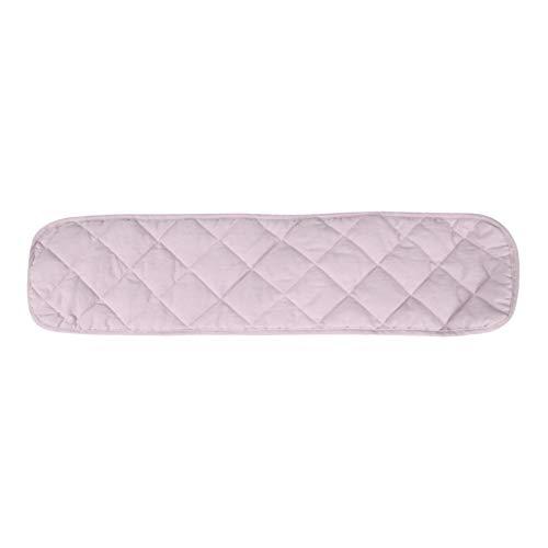 Cubierta de carril para cuna de bebé, acolchado para carril de cuna para bebé, juego de protectores para cuna para cuna de bebé, funda de parachoques para cuna larga (rosa, tamaño: 120 cm)