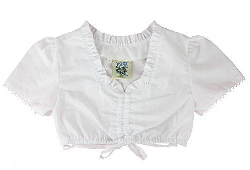 Isar-Trachten Dirndlbluse Kinder weiß (158, Weiß)