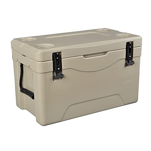 DAGCOT Caja de Almuerzo Medio refrigerante Mantener Hielo o cálido Caja de Almacenamiento en casa portátil Travel Cofre de Hielo para Acampar Pesca Barbacoa 38L / 34.5 Cuarto de galón (Color : Brown)