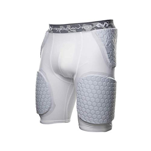 McDavid Compression Padded Shorts with HEX Pads. Hip, Tailbone, Thigh Padding. Girdle Tights for Men and Women. Football, Lacrosse, Hockey, Basketball Snowboarding