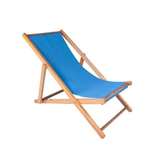 FACAZ Tumbona de Playa, Silla reclinable de balcón Plegable de Madera de Gravedad Cero Plegable al Aire Libre Siesta Chaise Longue (Color: Rosa)
