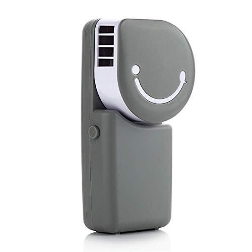 AHAI YU Handventilator mit Smiley-Gesicht, leistungsstark, klein, persönlicher tragbarer Ventilator, Geschwindigkeit, verstellbar, wiederaufladbar per USB, für Zuhause, Büro, Outdoor, Reisen grau