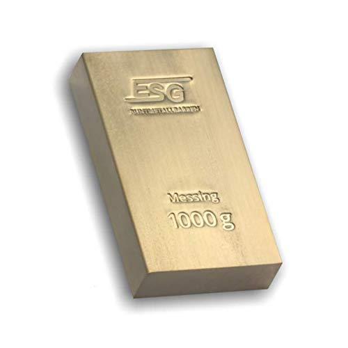 1 kg Barren aus mehreren wunderschön geprägten Metallen (Messing)