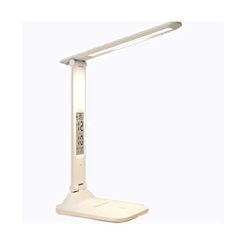 Binn Lámpara de Escritorio Led Protección for los Ojos Digital LED lámpara de Escritorio, Recargable Plug-in de Doble propósito de Noche lámpara de Escritorio, lámpara de Mesa con Puerto USB